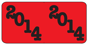2014 Year Label Pages - Red and Black