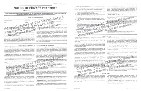 1 Year Digital Hipaa Notice Of Privacy Practices Form Pdf