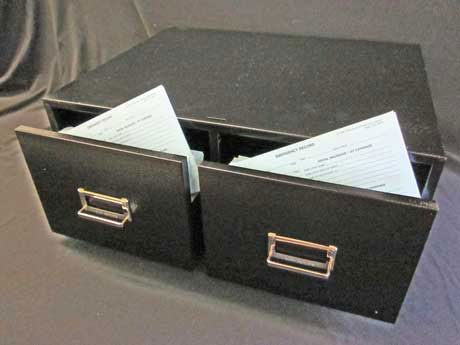 Emergency Record Double File Drawer - Black