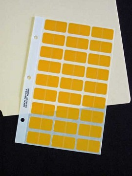Label Pages - Yellow