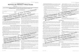 HIPAA Notice of Privacy Practices Form PDF - 5 Year